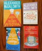 4 Alexander McCall Smith books Limpopo Academy Peppermint Tea Long Lost Friends